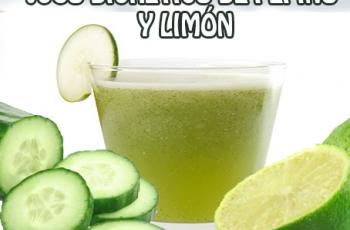 Jugo diurético de pepino y limón