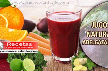 Jugo natural adelgazante - Recetas de bebidas para adelgazar