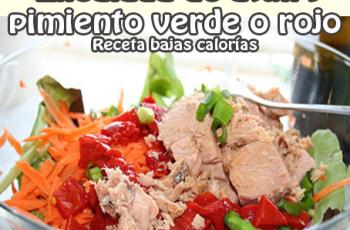 Ensalada de atún y pimiento verde o rojo - Recetas de ensaladas