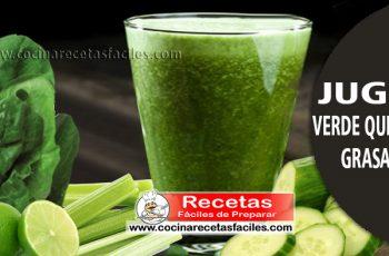 Jugo verde quema grasa - Bebidas para adelgazar