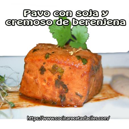 pavo,salsa soya,limón,cilantro,mostaza,jengibre,berenjena,leche,nuez