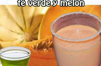 Batido diurético de té verde y melón