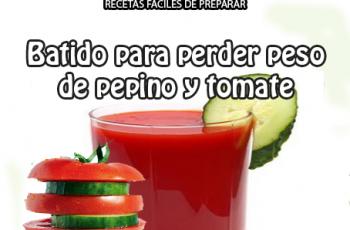 Batido perder peso de pepino y tomate - Bebidas para adelgazar