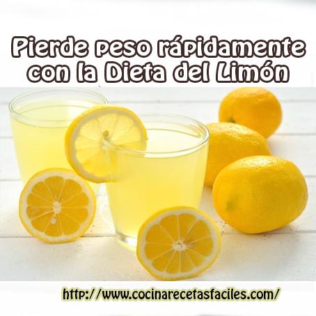 Pierde peso rápidamente con la Dieta del Limón