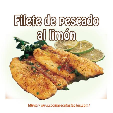 filetes, harina,limón,perejil,