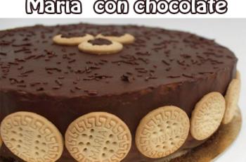 Torta fría de galletas maría con chocolate - Tortas y pasteles