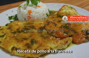 Pollo a la francesa - Vídeos recetas caseras de pollo