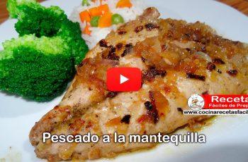 Pescado a la mantequilla - Vídeo Recetas de Pescados y mariscos