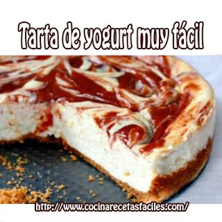 Receta de tarta de yogurt✅Tarta similar a las cheesecake solo que en lugar de utilizar queso usaremos yogurt. Se trata de una receta deliciosa y sencilla.