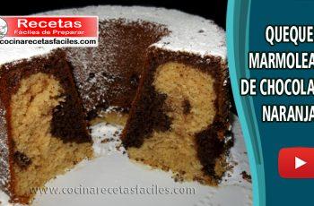 Queque marmoleado de chocolate y naranja - Vídeo recetas de tortas