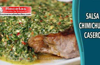 Salsa chimichurri casero - Recetas de salsa y cremas