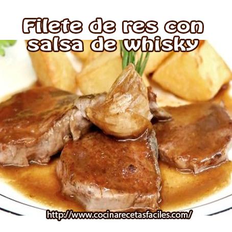 Filete de res con salsa de whisky cocina recetas f ciles - Filetes de carne en salsa ...