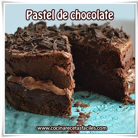 Recetas de tortas y pasteles,  receta de pastel de chocolate