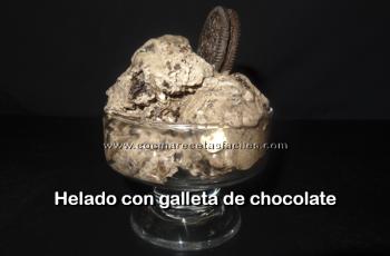Helado de galletas de chocolate - Vídeo recetas de postres y helados