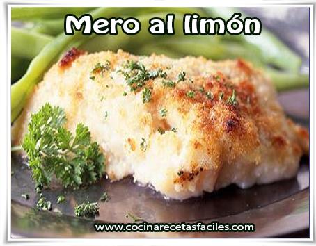 Recetas de pescados y mariscos,  mero al limón
