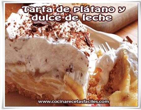 Receta de Tarta de plátano y dulce de leche✅esta receta te encantará, super fácil y sencilla de hacer con la que seguro que te chuparás los dedos.
