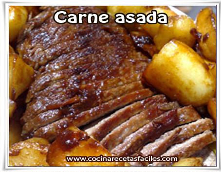 Recetas de carnes , carne asada