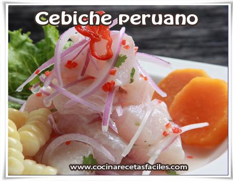Recetas de Pescados y mariscos, Ceviche