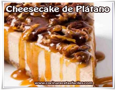 Postres y helados , cheesecake de plátano