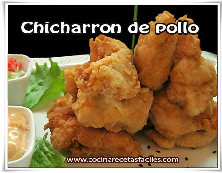Recetas de pollo , receta de chicharron de pollo