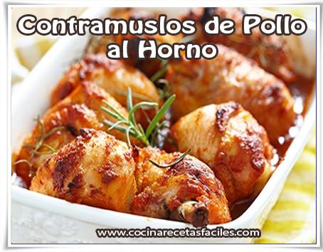 Recetas de pollo , receta de contramuslos de Pollo al Horno