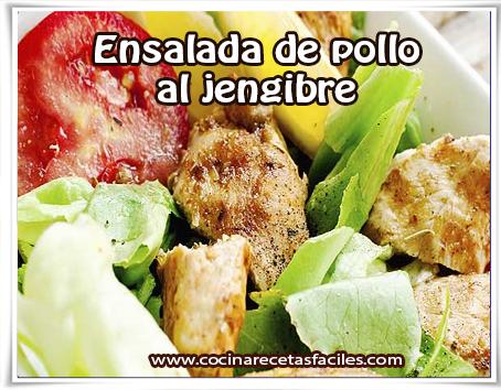 Recetas de ensaladas , receta de ensalada de pollo al jengibre