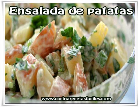 Recetas de ensaladas , ensalada de patatas