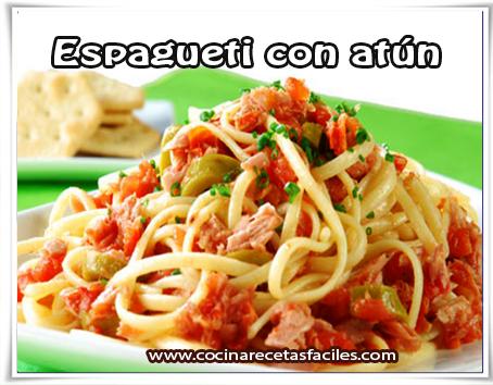 Recetas de pastas , receta de espagueti con atún