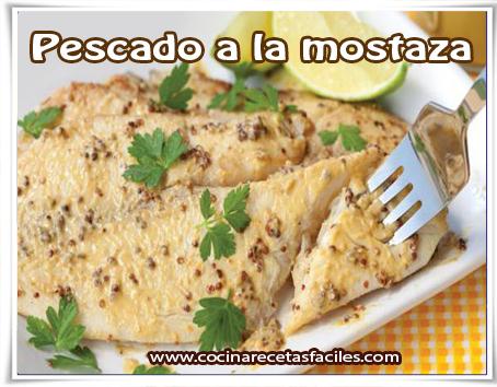 Recetas de Pescados y mariscos , pescado a la mostaza