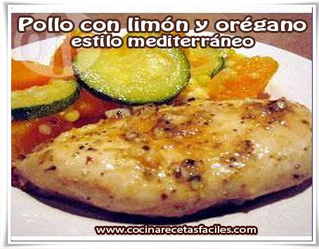 Recetas de pollo , pollo con limón y orégano estilo mediterráneo