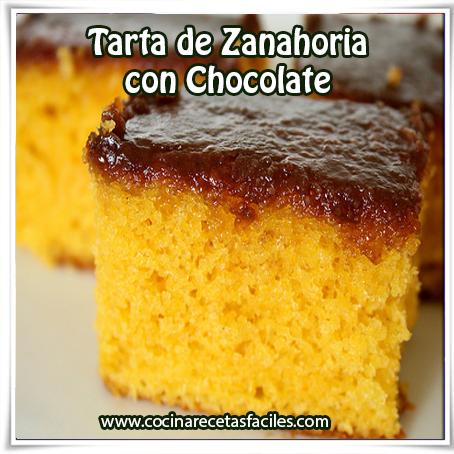 Recetas de tortas y pasteles,  receta de tarta de zanahoria con chocolate