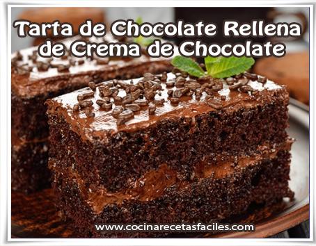 Recetas de tortas y pasteles , tarta de Chocolate Rellena de Crema de Chocolate