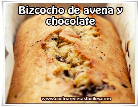 Recetas de tortas y  pasteles , bizcocho de avena y chocolate