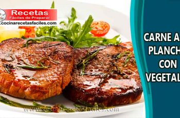 Carne a la plancha con vegetales