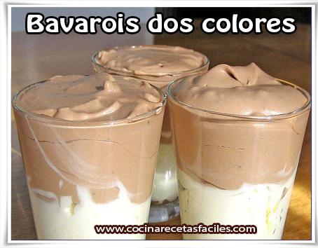 Postres y helados , bavarois dos colores