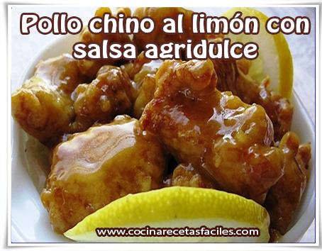 Pollo chino al lim n con salsa agridulce cocina recetas f ciles - Salsa de pollo al limon ...