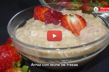 Arroz con leche de fresa casero - Vídeo recetas de postres y helados
