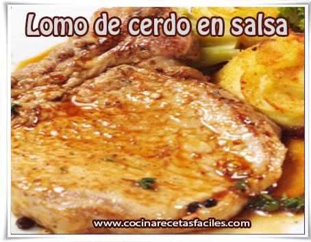 Recetas de carnes, lomo de cerdo en salsa