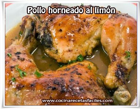 Recetas de pollo, pollo horneado al limón