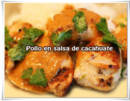 Recetas mexicanas , pollo, cacahuate