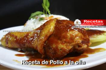 Receta de Pollo a la olla - Vìdeo receta de cocina paso a paso