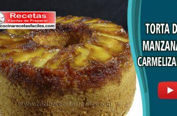 Torta de manzanas caramelizadas - Vídeo recetas de tortas y pasteles
