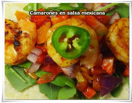 Recetas Mexicanas, camarones