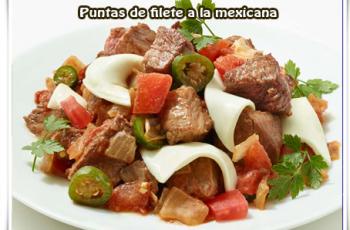 Puntas de filete a la mexicana - Recetas mexicanas