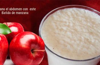 ▷ Aplana el abdomen con este Batido de manzana