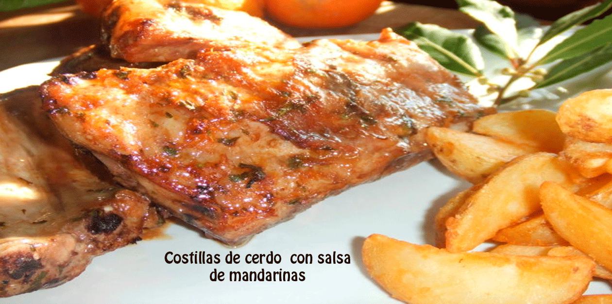 Costillas De Cerdo Con Salsa De Mandarinas Recetas Fáciles
