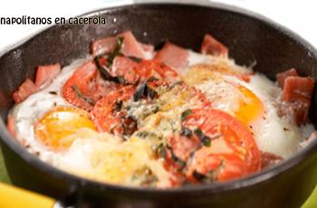 Huevos napolitanos en cacerola