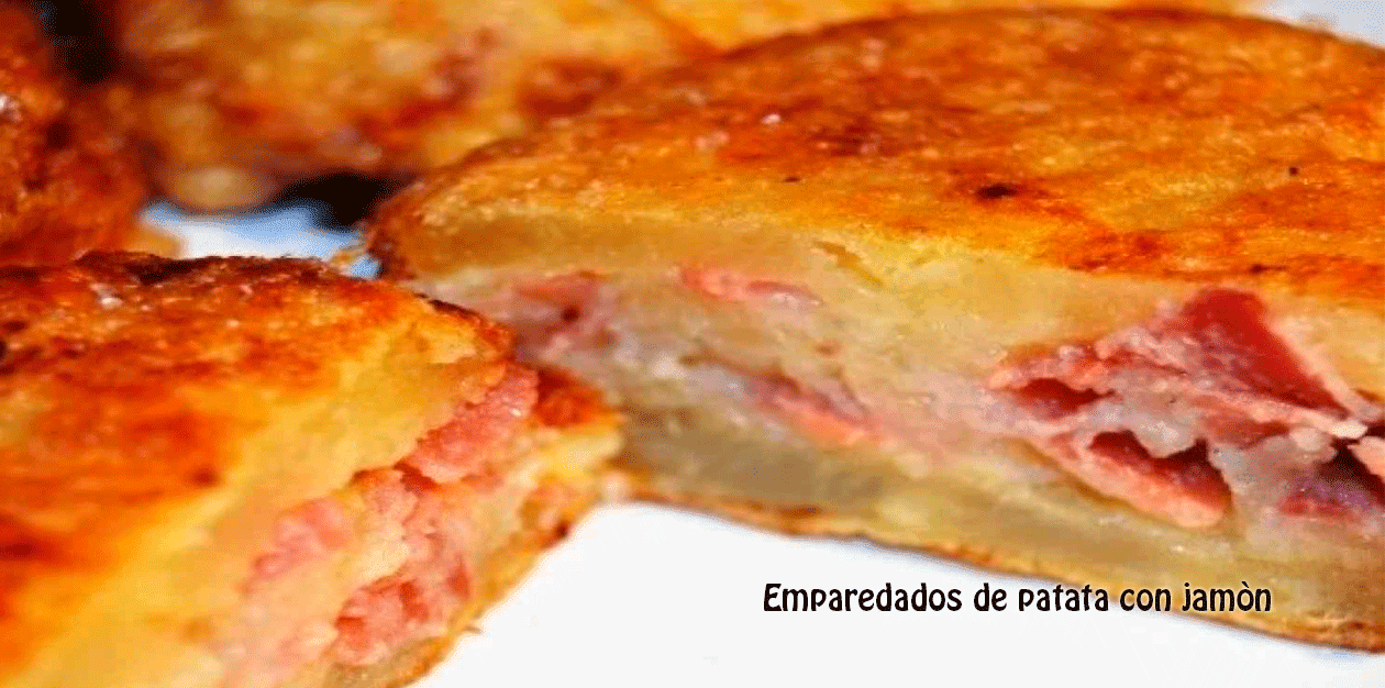 Patata Porner emparedados de patata con jamón - recetas de entradas y
