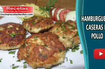 Hamburguesas de pollo casera - Vídeo recetas de pollo