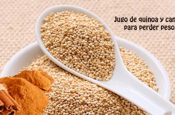 Jugo de quinoa y canela para perder peso